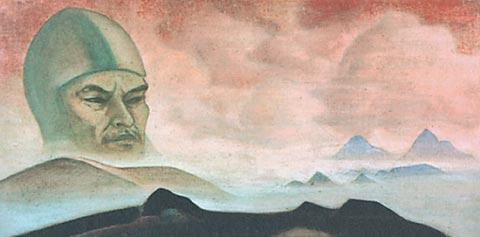 Н.К. Рерих. Явление срока [Проект наддверной фрески] 1927